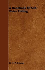 A HANDBOOK OF SALT WATER FISHING by O.H.P. Rodman