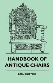 HANDBOOK OF ANTIQUE CHAIRS by Carl W. Drepperd