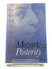 MOZART AND POSTERITY by Gernot Gruber