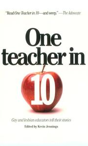 Cover art for ONE TEACHER IN 10