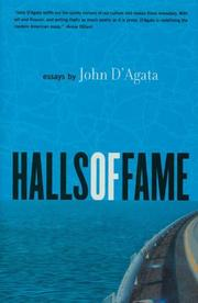 HALLS OF FAME by John D'Agata