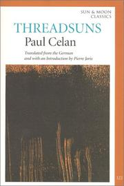 THREADSUNS by Paul Celan