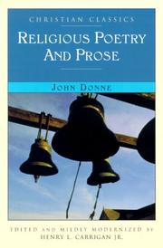 RELIGIOUS POETRY AND PROSE by John Donne