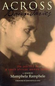 ACROSS BOUNDARIES by Mamphela Ramphele