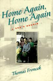 HOME AGAIN, HOME AGAIN by Thomas Froncek