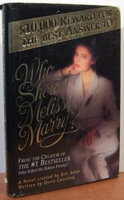 WHO SHOULD MELISSA MARRY? by Doris Cassiday