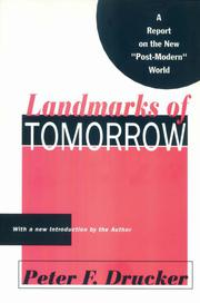 LANDMARKS OF TOMORROW by Peter F. Drucker