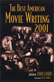 THE BEST AMERICAN MOVIE WRITING 2001 by John Landis