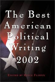 BEST AMERICAN POLITICAL WRITING 2002 by Royce Flippin