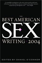Cover art for THE BEST AMERICAN SEX WRITING 2004