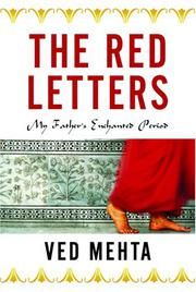 THE RED LETTERS by Ved Mehta