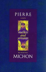 MASTERS AND SERVANTS by Pierre Michon