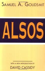 ALSOS by Samuel A. Goudsmit