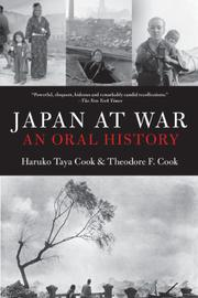 JAPAN AT WAR by Haruko Taya Cook