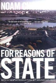 FOR REASONS OF STATE by Noam Chomsky