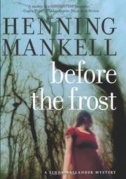 Cover art for BEFORE THE FROST