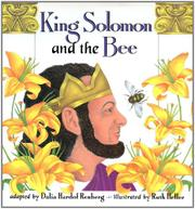 KING SOLOMON AND THE BEE by Dalia Hardof -- Adapt. Renberg