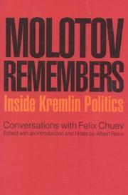 MOLOTOV REMEMBERS by Albert Resis