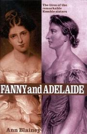 FANNY & ADELAIDE by Ann Blainey
