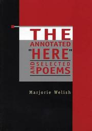 """THE ANNOTATED """"HERE"""" by Marjorie Welish"""
