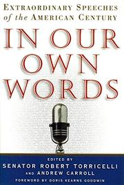 IN OUR OWN WORDS by Robert G. Torricelli