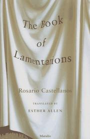 THE BOOK OF LAMENTATIONS by Rosario Castellanos