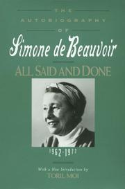 Cover art for ALL SAID AND DONE