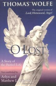 O LOST by Thomas Wolfe