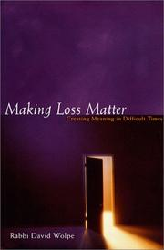 MAKING LOSS MATTER by David J. Wolpe