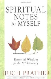 SPIRITUAL NOTES TO MYSELF by Hugh Prather