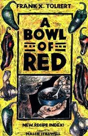 A BOWL OF RED by Frank X. Tolbert