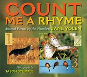 COUNT ME A RHYME by Jane Yolen