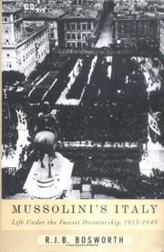 Book Cover for MUSSOLINI'S ITALY