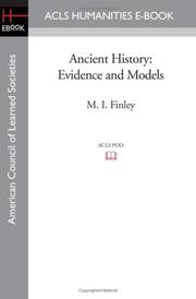 ANCIENT HISTORY: Evidence and Models by M.I. Finley