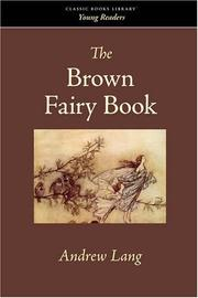 THE BROWN FAIRY BOOK by Andrew-Ed. Lang
