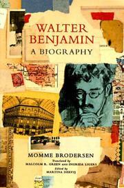 WALTER BENJAMIN by Momme Brodersen