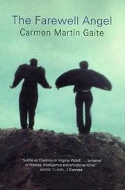 THE FAREWELL ANGEL by Carmen Martín Gaite