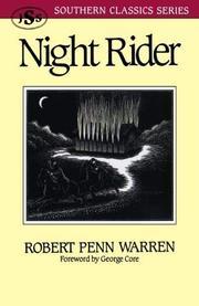 NIGHT RIDER by Robert Penn Warren