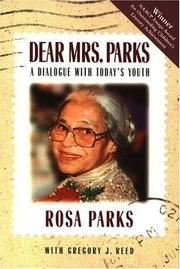 Cover art for DEAR MRS. PARKS