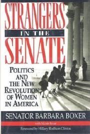STRANGERS IN THE SENATE by Barbara Boxer