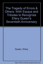 THE TRAGEDY OF ERRORS by Ellery Queen