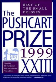 THE PUSHCART PRIZE XXIII by Bill Henderson