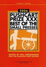 THE PUSHCART PRIZE XXX by Bill Henderson
