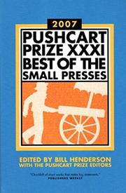 THE PUSHCART PRIZE 2007 by Bill Henderson
