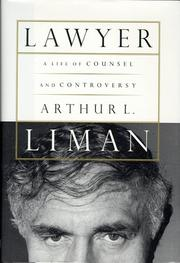 LAWYER by Arthur L. Liman