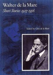 SHORT STORIES 1927-1956 by Walter de la Mare