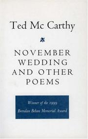 NOVEMBER WEDDING AND OTHER POEMS by Ted McCarthy
