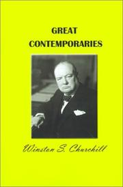 GREAT CONTEMPORARIES by Winston S.  Churchill