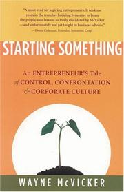 STARTING SOMETHING by Wayne McVicker