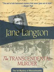THE TRANSCENDENTAL MURDER by Jane Langton